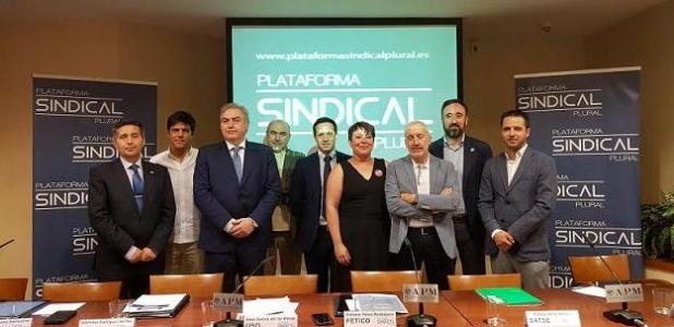 Plataforma Sindical Plural, presentada en la Asociación de la Prensa de Madrid